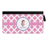 Diamond Print w/Princess Genuine Leather Ladies Zippered Wallet (Personalized)