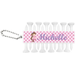 Diamond Print w/Princess Golf Tees & Ball Markers Set (Personalized)