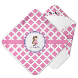 Diamond Print w/Princess Hooded Baby Towel (Personalized)