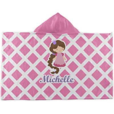 Diamond Print w/Princess Kids Hooded Towel (Personalized)