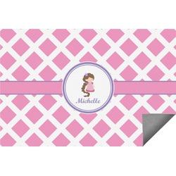 Diamond Print w/Princess Indoor / Outdoor Rug - 8'x10' (Personalized)