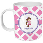Diamond Print w/Princess Plastic Kids Mug (Personalized)