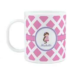 Diamond Print w/Princess Plastic Kids Mug (Personalized)