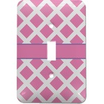 Diamond Print w/Princess Light Switch Cover (Single Toggle) (Personalized)