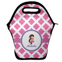 Diamond Print w/Princess Lunch Bag (Personalized)