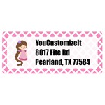Diamond Print w/Princess Return Address Labels (Personalized)