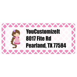 Diamond Print w/Princess Return Address Labels (Personalized)