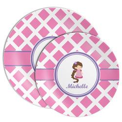 Diamond Print w/Princess Melamine Plate (Personalized)