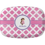 Diamond Print w/Princess Melamine Platter (Personalized)