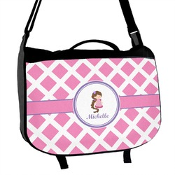 Diamond Print w/Princess Messenger Bag (Personalized)