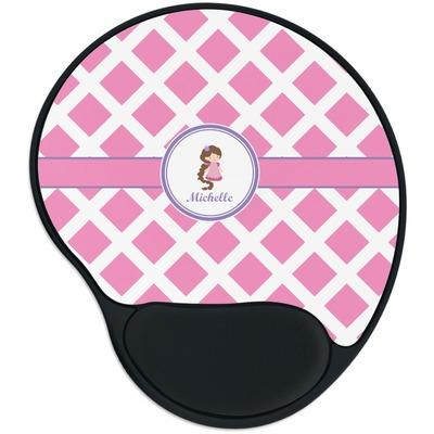 Diamond Print w/Princess Mouse Pad with Wrist Support