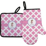 Diamond Print w/Princess Oven Mitt & Pot Holder (Personalized)