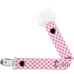 Diamond Print w/Princess Pacifier Clips (Personalized)