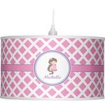 Diamond Print w/Princess Drum Pendant Lamp (Personalized)