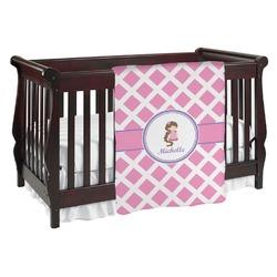 Diamond Print w/Princess Baby Blanket (Personalized)