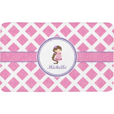 Diamond Print w/Princess Bath Mat (Personalized)
