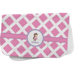 Diamond Print w/Princess Burp Cloth (Personalized)