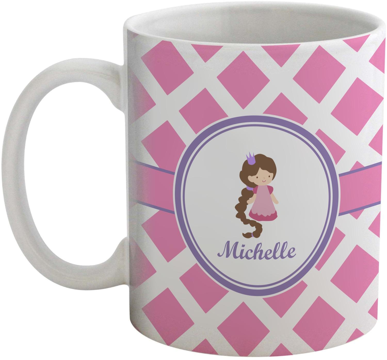 Animal Coffee Mugs Diamond Print W Princess Coffee Mug Personalized