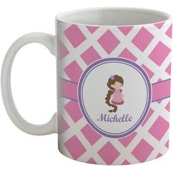 Diamond Print w/Princess Coffee Mug (Personalized)