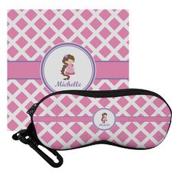 Diamond Print w/Princess Eyeglass Case & Cloth (Personalized)