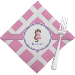 Diamond Print w/Princess Napkins (Set of 4) (Personalized)