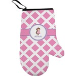 Diamond Print w/Princess Right Oven Mitt (Personalized)