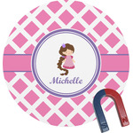 Diamond Print w/Princess Round Magnet (Personalized)