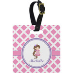 Diamond Print w/Princess Square Luggage Tag (Personalized)