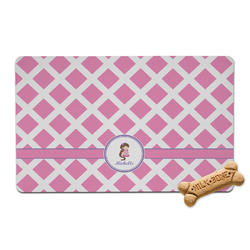 Diamond Print w/Princess Pet Bowl Mat (Personalized)