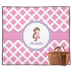 Diamond Print w/Princess Outdoor Picnic Blanket (Personalized)