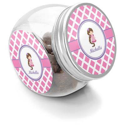 Diamond Print w/Princess Puppy Treat Jar (Personalized)