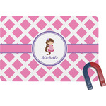 Diamond Print w/Princess Rectangular Fridge Magnet (Personalized)
