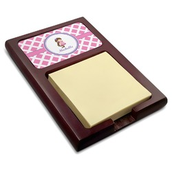 Diamond Print w/Princess Red Mahogany Sticky Note Holder (Personalized)