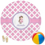 Diamond Print w/Princess Round Beach Towel (Personalized)