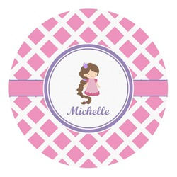 Diamond Print w/Princess Round Decal (Personalized)