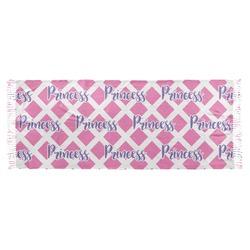 Diamond Print w/Princess Faux Pashmina Scarf (Personalized)