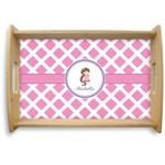 Diamond Print w/Princess Natural Wooden Tray (Personalized)