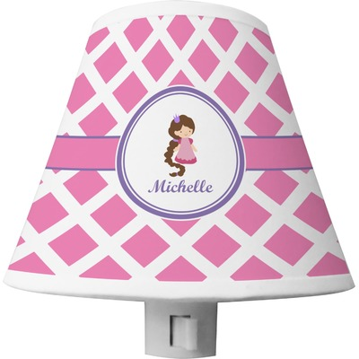 Diamond Print w/Princess Shade Night Light (Personalized)