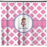 Diamond Print w/Princess Shower Curtain (Personalized)