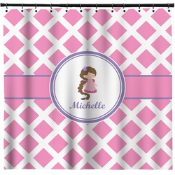 Diamond Print w/Princess Shower Curtain (Personalized)