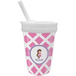 Diamond Print w/Princess Sippy Cup with Straw (Personalized)