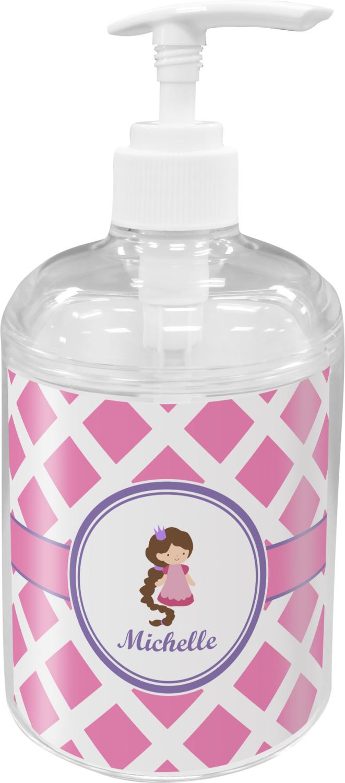 Diamond Print W Princess Soap Lotion Dispenser Personalized