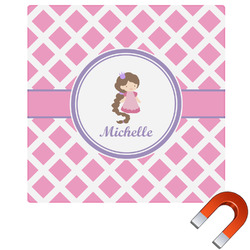 Diamond Print w/Princess Square Car Magnet (Personalized)