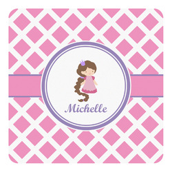 Diamond Print w/Princess Square Decal - Custom Size (Personalized)