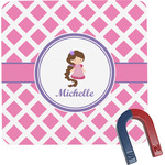 Diamond Print w/Princess Square Fridge Magnet (Personalized)