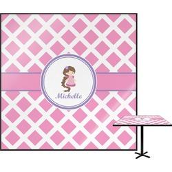 Diamond Print w/Princess Square Table Top (Personalized)