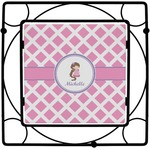 Diamond Print w/Princess Square Trivet (Personalized)