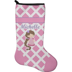 Diamond Print w/Princess Christmas Stocking - Neoprene (Personalized)