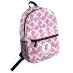 Diamond Print w/Princess Student Backpack (Personalized)