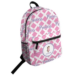 Diamond Print w/Princess Student Backpack (Personalized)